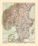 Schweden und Norwegen Südlicher Teil historische...