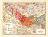 Thüringen Geologie historische Landkarte...