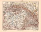 Ungarn Galizien Bukowina historische Landkarte...