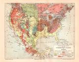 Vereinigte Staaten Geologie historische Landkarte...