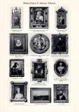Bilderrahmen I. - II. historischer Druck Autotypie ca. 1913