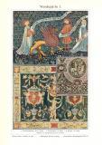 Wandteppiche I. historischer Druck Chromotypie ca. 1913