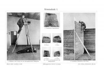 Kriminalistik I. - II. historischer Druck Autotypie ca. 1910