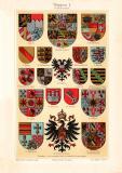 Wappen I. Deutsche Staaten historischer Druck...