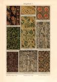Zeugdruck I. Chromolithographie 1909 Original der Zeit