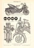Motorwagen VI. historischer Druck Holzstich ca. 1913