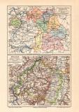 Bayern administrative Einteilung + Pfalz historische...