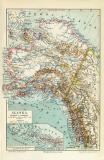 Alaska historische Landkarte Lithographie ca. 1910