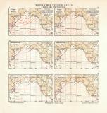 Nördlicher Stiller Ozean Winde und Temperaturen...