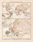 Erde + Europa Währungen und Münzen historische...