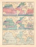 Wärmeverteilung im Weltmeer historische Landkarte...