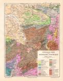 Rheinland Westfalen Geologie historische Landkarte...