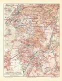 Gross Berlin Südwest historischer Stadtplan Karte...
