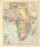 Afrika politische Übersicht historische Landkarte...