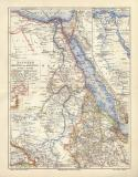 Ägypten Darfur Abessinien historische Landkarte...