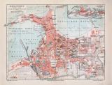 Alexandria historischer Stadtplan Karte Lithographie ca....