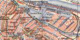 Amsterdam historischer Stadtplan Karte Lithographie ca. 1908