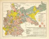 Reichtagswahlen 1890 Karte Lithographie 1890 II. Original...