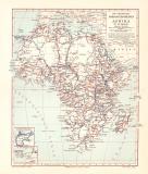 Afrika Forschungsreisen historische Landkarte...