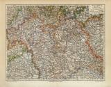 Bayern Karte Nördlicher Teil historische Landkarte...