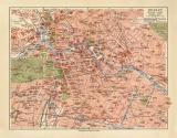 Berlin historischer Stadtplan Karte Lithographie ca. 1912