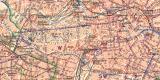 Berlin mit Vororten historischer Stadtplan Karte...