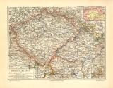 Böhmen Mähren Schlesien historische Landkarte...