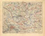 Brandenburg historische Landkarte Lithographie ca. 1907