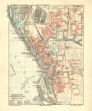 Bremerhaven historischer Stadtplan Karte Lithographie ca....