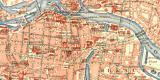 Breslau historischer Stadtplan Karte Lithographie ca. 1910