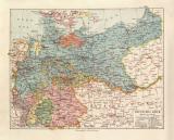 Deutsches Reich politisch historische Landkarte...