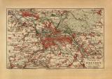 Dresden Umgebung historischer Stadtplan Karte...