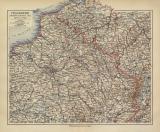 Frankreich Nordöstlicher Teil historische Landkarte...