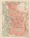 Halle a.d. Saale historischer Stadtplan Karte...