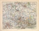 Hannover historische Landkarte Lithographie ca. 1907