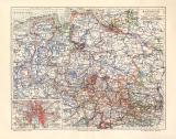 Hannover historische Landkarte Lithographie ca. 1908