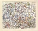 Hannover historische Landkarte Lithographie ca. 1910