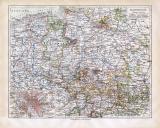 Hannover historische Landkarte Lithographie ca. 1918