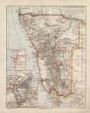 Deutsch Südwestafrika historische Landkarte...