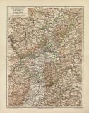 Großherzogtum Hessen historische Landkarte...