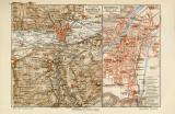 Innsbruck historischer Stadtplan Karte Lithographie ca. 1908