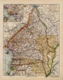 Kamerun historische Landkarte Lithographie ca. 1918