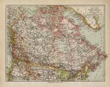 Britisch Nordamerika historische Landkarte Lithographie...
