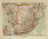 Süd Afrika Kapkolonien historische Landkarte...