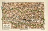 Kärnten historische Landkarte Lithographie ca. 1908