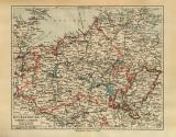 Mecklenburg Schwerin Strelitz historische Landkarte...