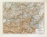 Nieder-Österreich historische Landkarte Lithographie...