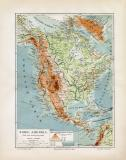 Nord Amerika Flüße & Gebirge historische...