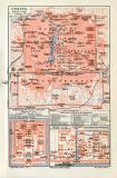 Peking historischer Stadtplan Karte Lithographie ca. 1908