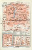 Peking historischer Stadtplan Karte Lithographie ca. 1909